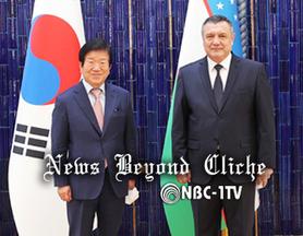 박병석 국회의장, 타슈켄트에서 나르바예바 상원의장과 회담
