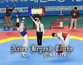 제102회 전국체전 폐막... 태권도경기장 '밀착취재'