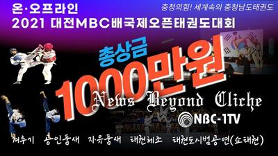 대전MBC배 국제오픈태권도대회 포스터